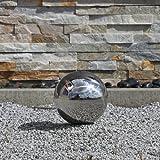 Esfera decorativa para el jardín de acero inoxidable pulido con 15cm de diámetro, bola flotante, decoración de jardín, fiesta