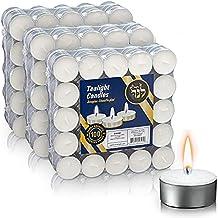 شموع شموع شموع صغيرة من لانر - عبوة من 300 مصباح أبيض غير معطر مع وقت احتراق 3.5 ساعة - شموع شاي لحفلات الزفاف والمنزل وال...