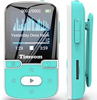 $39 » Sponsored Ad - 32GB MP3 Player with Bluetooth 5.0, Timoom Portable Lossless Sound Music Player with Clip, Sport Pedometer,...