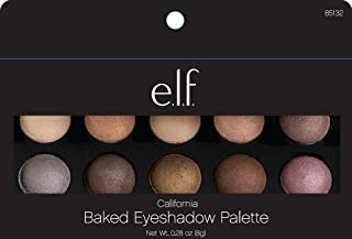 e.l.f. Cosmetics Baked Eyeshadow Palette, 10 Oven-Baked Eyeshadows for Beautiful Eyes, California