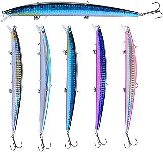 Abracing 3 Unids Señuelos de Pesca 18cm / 24g Señuelos de Pesca Minnow Cebo Duro Costero con Ganchos Triples