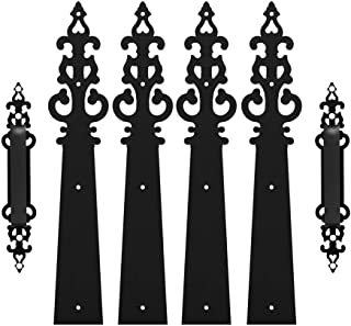 House of Antique Hardware R-04SE-2917119-BPC 6 Emory Cast-Iron Dummy Strap in Matte Black