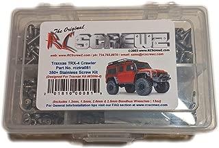 RCScrewZ Traxxas TRX-4 Crawler Stainless Steel Screw Kit (350+ Pieces) Traxxas Kit 82056-4 - tra081