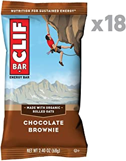 CLIF BAR – Energy Bars – Chocolate Brownie (2.4 Ounce Protein Bars, 18 Count)