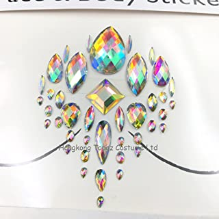body jewels inspired by chest makeup party 3d face body gem jewelry can be Stick On Self Adhesive Gems Chest nipple Sticker (Nipple type)