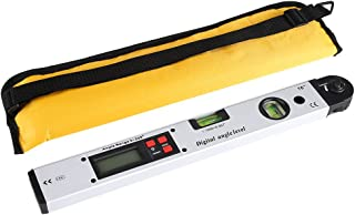 Mumusuki Regla de ángulo de Pantalla Digital infrarroja Rango de 360 ° Inclinómetro Nivel Medidor de ángulo Buscador Vertical 400 mm / 16 Pulgadas