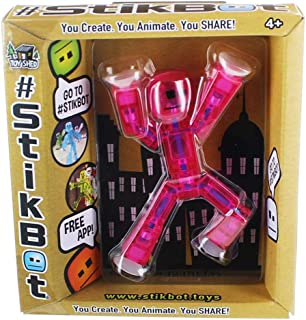 Stikbot,  Translucent Pink Figure,  3 Inches