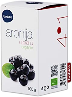 Bobica's Premium European Organic Aronia Berry (Chokeberry) Powder | 3.53oz /100g | in JAR | Antioxidant Superfood | Non-G...