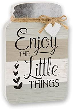 Large 4 Inspirational Wooden Mason Jar Wall Art Signs Rustic Country Home Decor