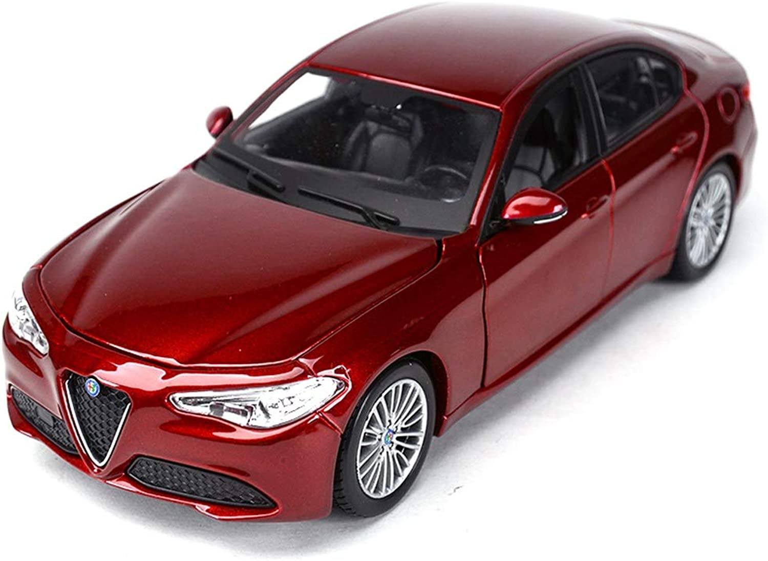 RUNWEI Car Model 1 24 Diecast Alloy Car Toy Jewelry Alfa Romeo Model Simulation Gift Decoration (color   Wine red)