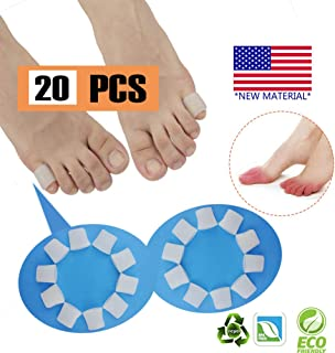 Gel Toe Protectors, Open Toe Sleeves Toe Tubes Toe caps (20 PCS),New Material, Great for Bunion Blisters, Corns, Hammer Toes, Toenails Loss, Friction Pain Relief and More. (for Pinky Toes)