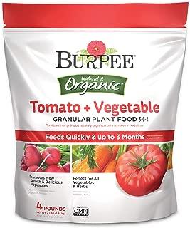 Burpee Organic Tomato and Vegetable Granular Plant Food, 4 lbs, 4 lbs