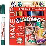 Maquillaje Playcolor, colores surtidos, metálico, 6x5gr