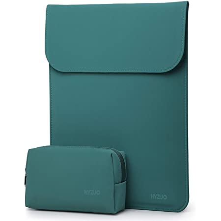 HYZUO 13 Pollici Laptop Custodia Borsa Sleeve PC Portatile Compatibile con MacBook Air 13 M1 2018-2021/MacBook Pro 13 M1 2016-2021/iPad Pro 12,9 2021/Dell XPS 13/Surface Pro X 7 6 5 4 3, Verde scuro
