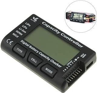 RC Lipo Battery Tester CellMeter-7 Digital Lipo Battery Capacity Checker Controller Tester for NiMH Nicd Life LiPo Li-ion Battery (2-7 Cells)