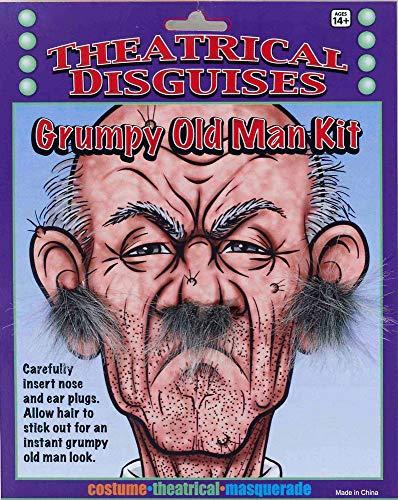 shoperama Set de pelo para nariz y orejas de abuelo y abuelo para el pelo de la nariz y la cara, para carnaval