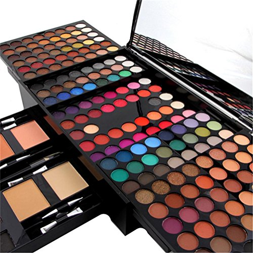 180 Farben Mineral Eye Shadow, 2 Farben Blush, 2 Color Concealer, 6 Color Augenbrauen Bleistift, 1...