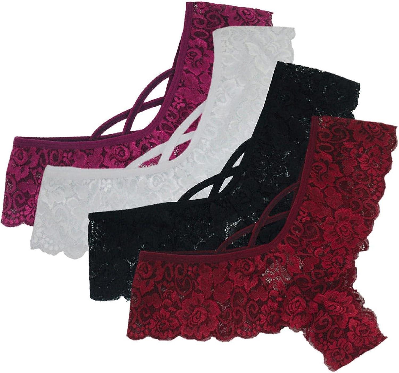 Women Panties Pack, Women's Cotton Underwear Soft Breathable Panties Briefs, Womens 4 Pack of Set Panty