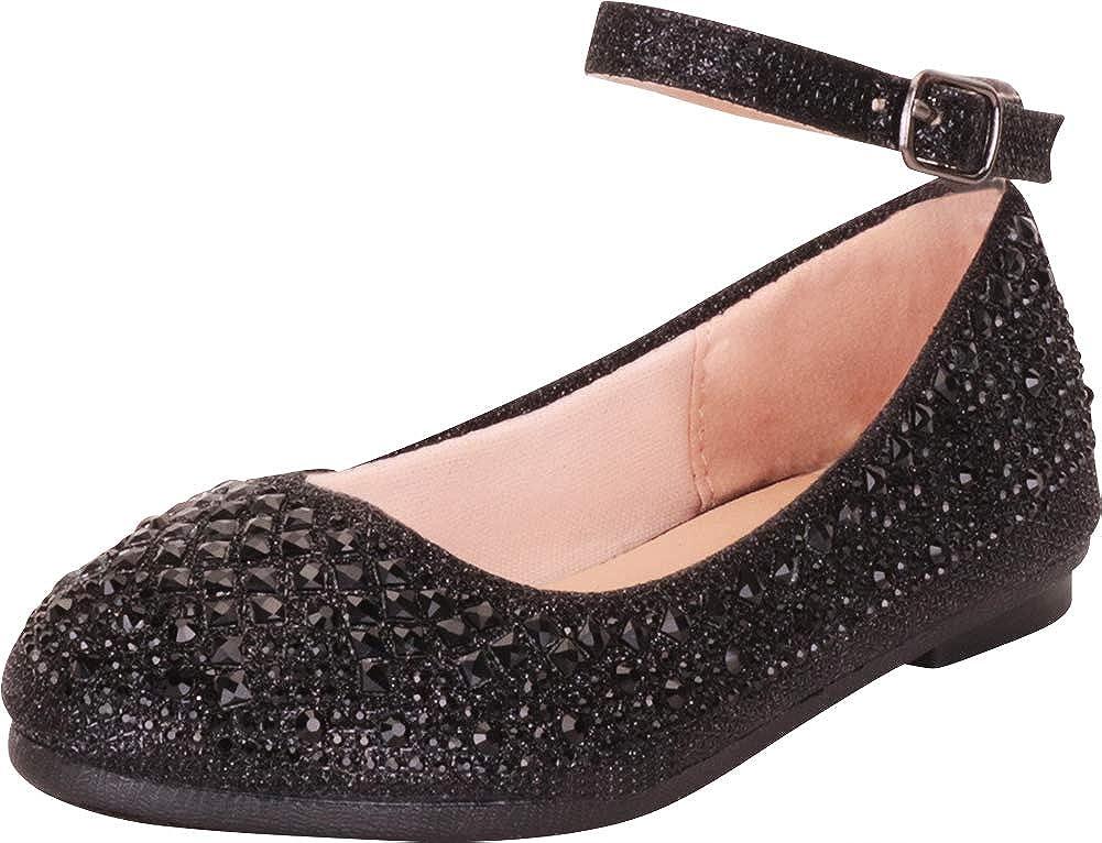 | Cambridge Select Girls' Ankle Strap Rhinestone Ballet Flat | Dance