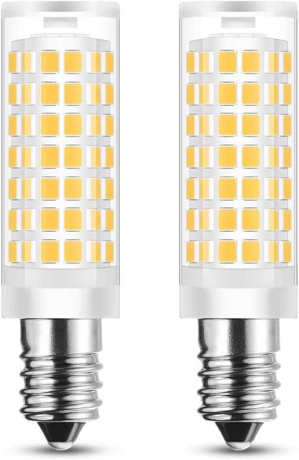 E14 Base European LED Light Bulb,Teka, AVERA Extractor Hood Bulb Replacement /E14 LED Filament Candle Shape Light Bulb Replace Turkish Moroccan lamp Bulbs AC 110V-130V 2-Pack, Warm White