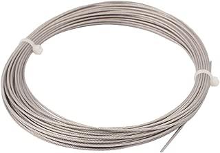 3 mm C/âble en Acier Galvanis/é avec Rev/êtement en PVC UOOOM 5 m