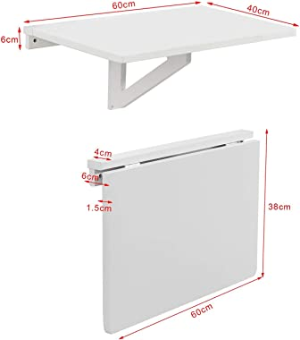 Haotian Wall-Mounted Drop-Leaf Table, Folding Kitchen & Dining Table Desk, Solid Wood Children Table,Home Office Table De