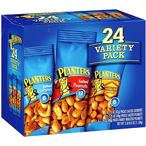 Planters Variety Pack Peanuts & Cashews 1.75 Oz / 24 Count