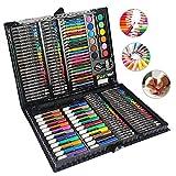 MIAOKE 168 Set de Pintura Niños, Set de crayones de Cera, lápices de Colores, Pastel de Acuarela, Borrador, sacapuntas, lápiz HB, Bloc de Dibujo de 18 Hojas