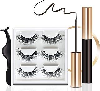 Reusable magnetic eyelash and eyeliner set, upgraded 3D magnetic eyelash case, best magnetic eyeliner and magnetic eyelash...