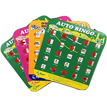 Regal Games Original Travel Bingo 4 Pack - Great for Family Vacations Car Rides and Road Trips …