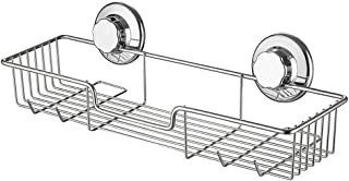 iPEGTOP シャンプーラック 浴室ラック シャンプー置き 強力吸盤 ステンレスワイヤーかご 壁掛け収納ラック 浴室棚 風呂ラック