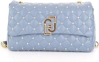 Luxury Fashion   Liu Jo Womens AA0210E0041M74111 Light Blue Shoulder Bag   Spring Summer 20