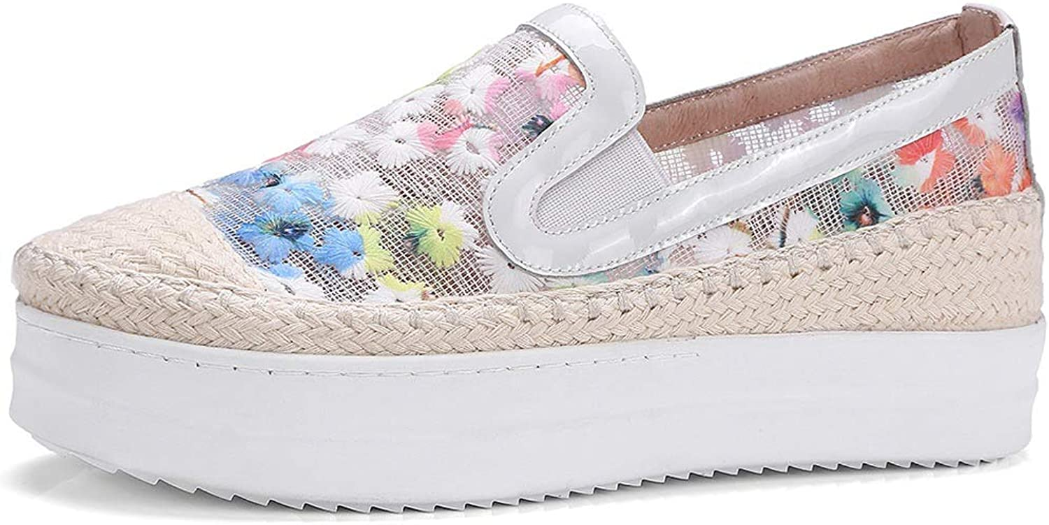 SaraIris Women Sneaker shoes Platform Heel Breathable Upper Casual Loafer shoes
