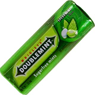Wrigley's Doublemint Candy Spearmint Flavor Sugar Free Net Wt 23.8 G (34 Pellets) X 5 Boxes