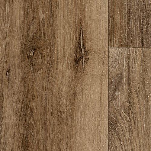 BODENMEISTER BM70566 Vinylboden PVC Bodenbelag Meterware 200, 300, 400 cm breit, Holzoptik Diele Eiche rustikal