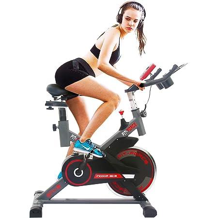 Bicicleta estática Fit-Force GTX con volante de inercia de 16 kilos