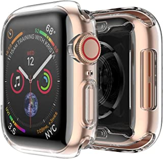 2xTPU Frame Bumper Cover Case Shell Screen Protector for Apple Watch Serie 40mm