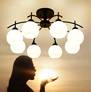 Iron LED Ceiling Living Room Bedroom Dining Room Lamps Book (Design : 8P)