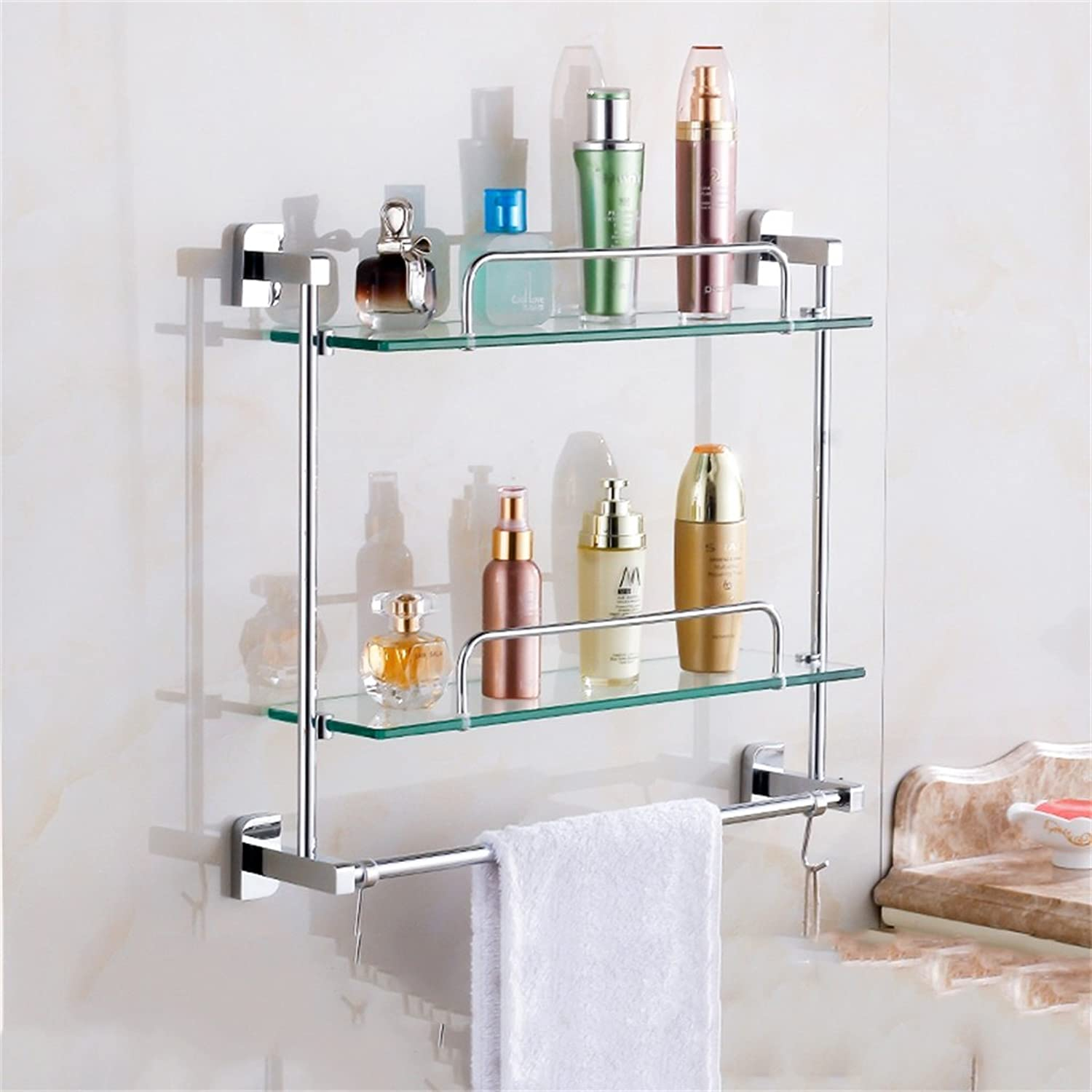 Cpp Shelf Bathroom Shelf Bathroom Shelf Glass Bathroom Wall mountings Safety Rounded Corners (Size   41  44m)