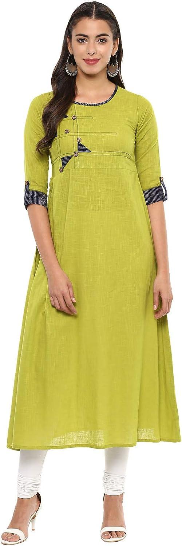 Yash Gallery Indian Tunic Tops ご予約品 Women's Work Cotton Patch 限定品 Slub A-