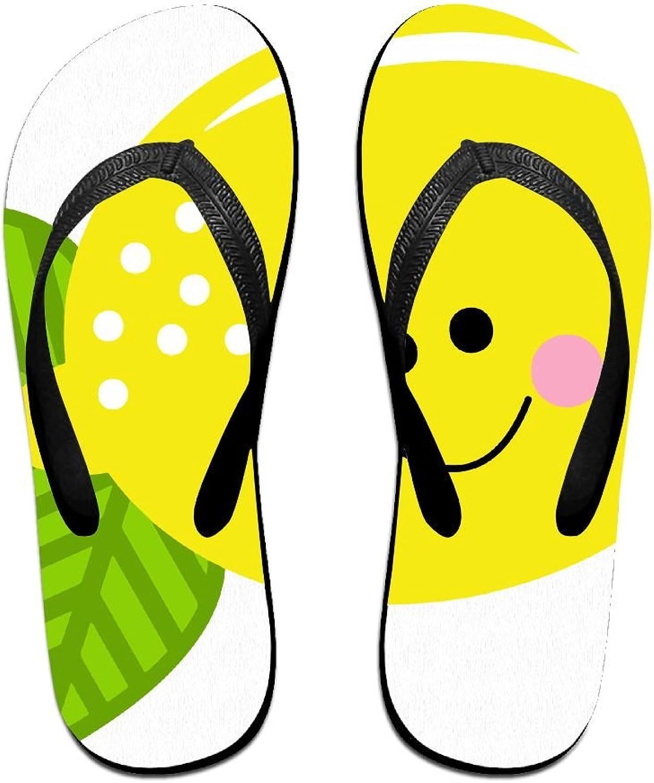 Unisex V Flip Flops Cute Fruit Lemon Personalized Summer Slipper