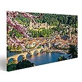 islandburner Bild Bilder auf Leinwand Blick auf Heidelberg