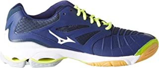 MIZUNO V1GA170071 Wave Lightning Z3 Men's Volleyball Shoes, Blue Depth/White/Safety Yellow