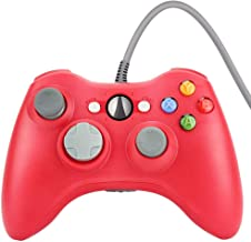 Wetoph Xbox 360 Wired Controller, CD29 PC Controller USB Gamepad Game Joystick Joypad Compatible for Microsoft 360 Console Windows PC Laptop Computer-Red