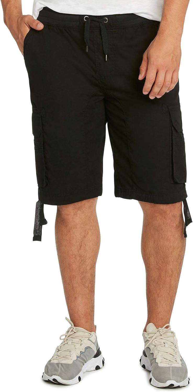 9 Crowns Men's Cargo Jogger Casual Shorts