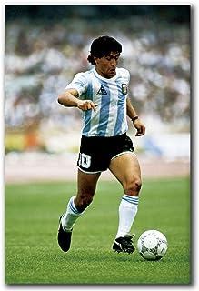 Maradona Football Star Poster e Stampe su Tela Pittura Decorazione murale Arte Regalo Arte Poster Tela Pittura Home Decor-50x70cm Senza Cornice