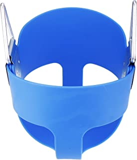 E EVERKING EverKing Heavy Duty High Back Full Bucket Toddler Swing Seat with Coated Swing Chains and Snap Hooks- Swing Set Accessories (Blue)
