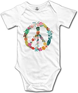 Rainbowhug Peace Sign Flower Unisex Baby Onesie Cartoon Newborn Clothes Funny Baby Outfits Comfortable Baby Clothes