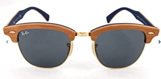 RB3016M Clubmaster Wood Square Sunglasses