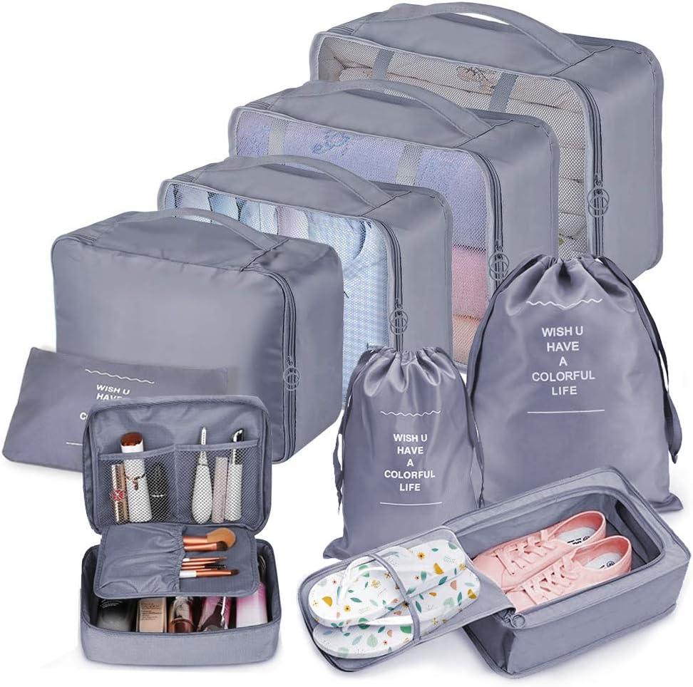 Bteng organizer pacchi da imballaggio da viaggio set grande 9 pezzi